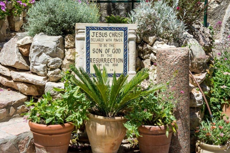 La tomba del giardino a Gerusalemme, Israele fotografia stock libera da diritti
