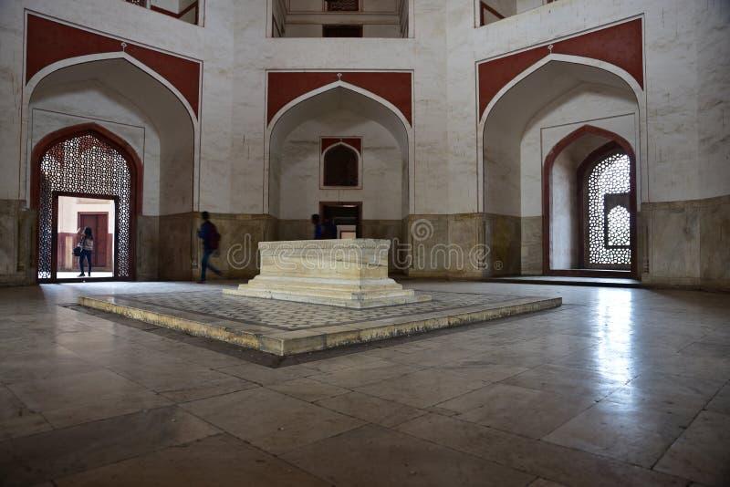 La tomba di Humayun famoso a Delhi, India È la tomba dell'imperatore Humayun di Mughal immagini stock