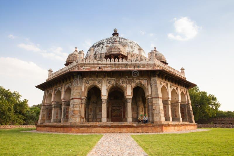 La tomba di Isa Khan Niyazi, complesso della tomba di Humayun a Delhi fotografia stock