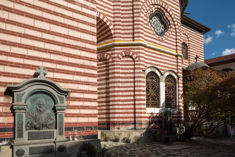 La tomba di Neofit Rilski del padre ha posto speciale, il monastero di Rila, Bulgaria fotografia stock libera da diritti