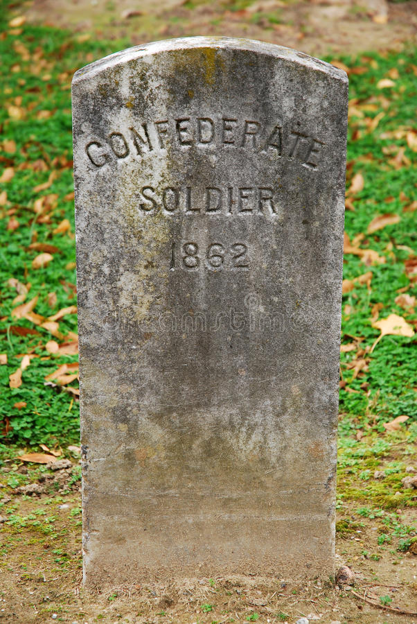 La tombe d'un soldat confédéré photo stock
