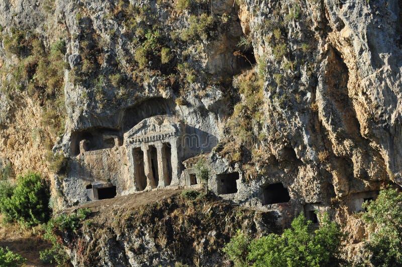 La tombe de Bellerophon chez Tlos, Turquie photographie stock libre de droits