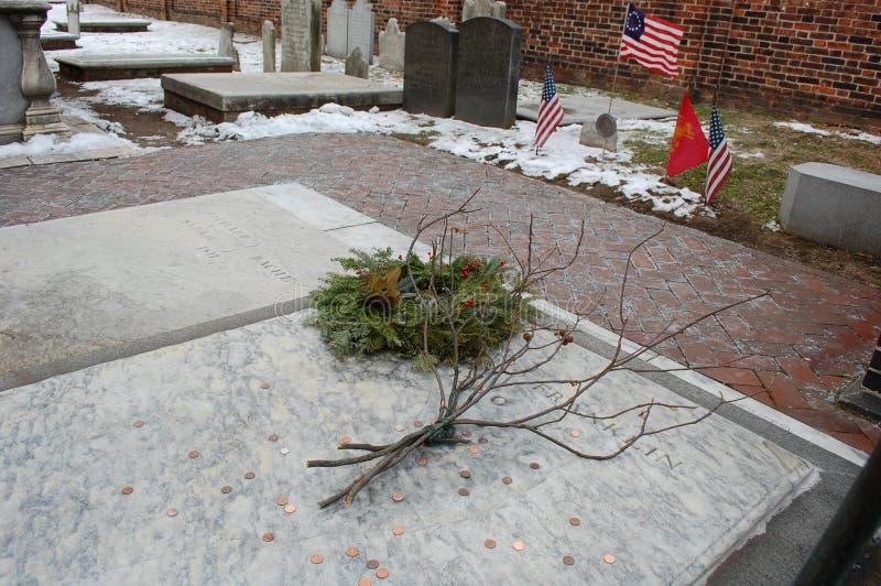 La tombe de Benjamin Franklin, Philadelphie photo stock