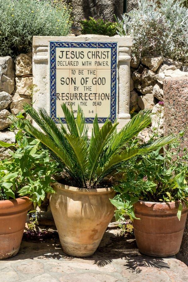 La tombe de jardin à Jérusalem, Israël photo stock