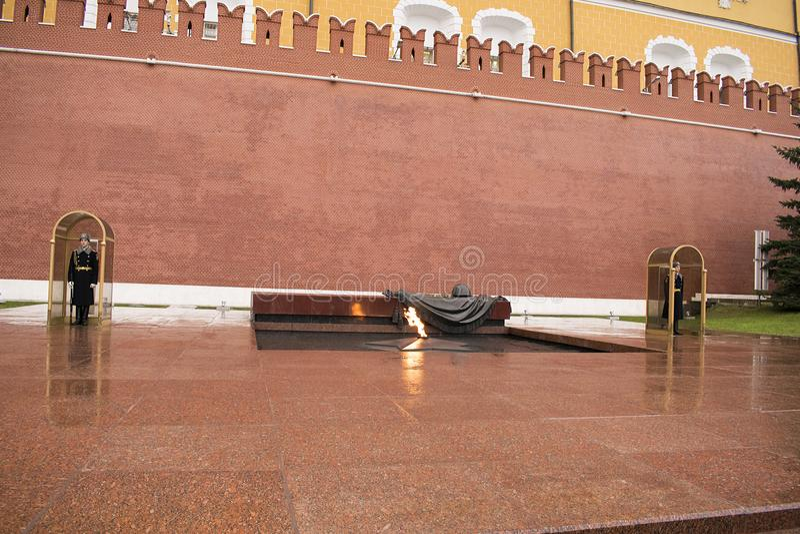 La tombe du soldat inconnu, Moscou, Russie images libres de droits