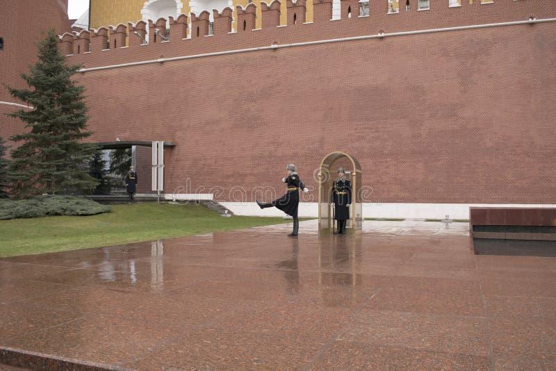 La tombe du soldat inconnu, Moscou, Russie photos libres de droits