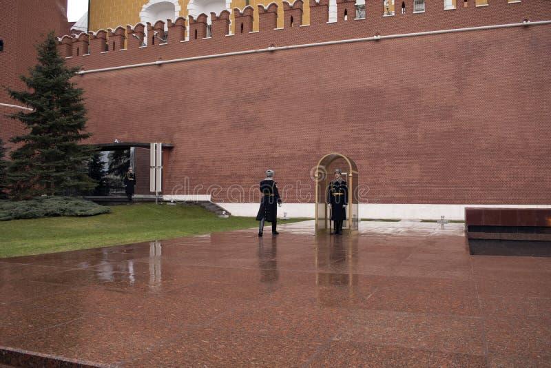 La tombe du soldat inconnu, Moscou, Russie image stock