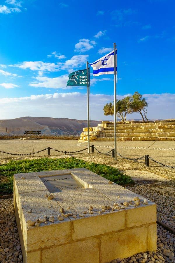 La tombe et le mémorial de Ben Gurion, dans Sde Boker photos libres de droits