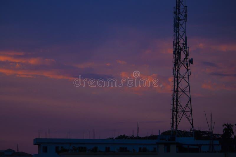La tonalidad de la puesta del sol imágenes de archivo libres de regalías