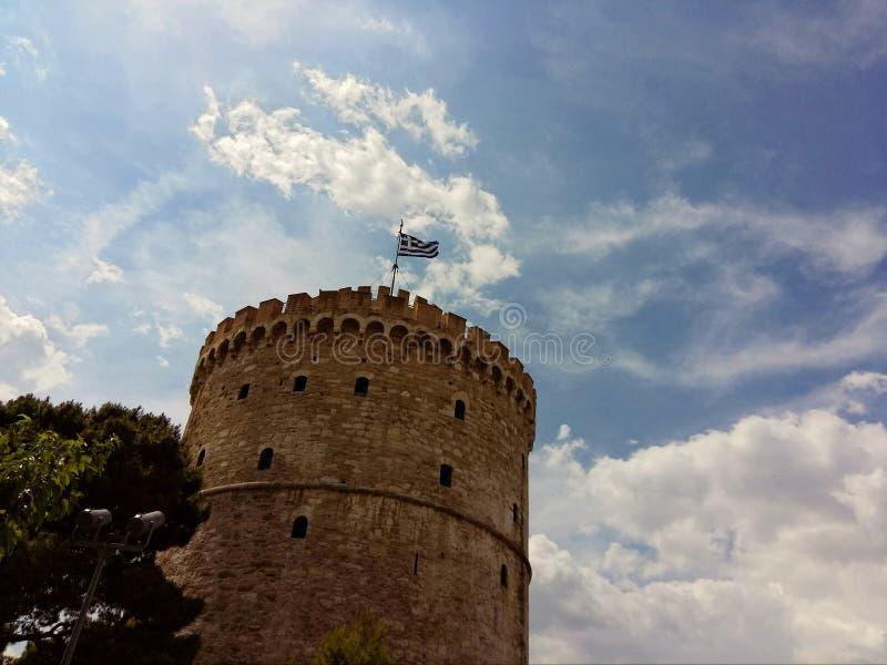 La torre blanca Salónica, Macedonia, Grecia fotografía de archivo