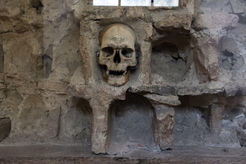La torre Cele Kula- del cráneo construyó de los 3000 cráneos de guerreros servios muertos después de la sublevación en 1809 en la fotografía de archivo libre de regalías