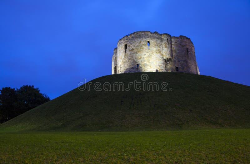 La torre de Clifford en York fotografía de archivo libre de regalías