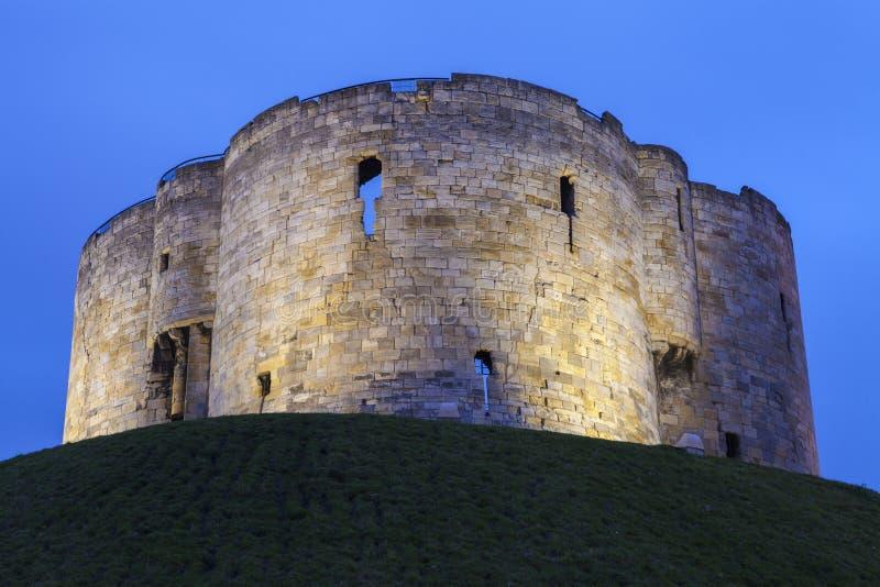 La torre de Clifford en York imagen de archivo