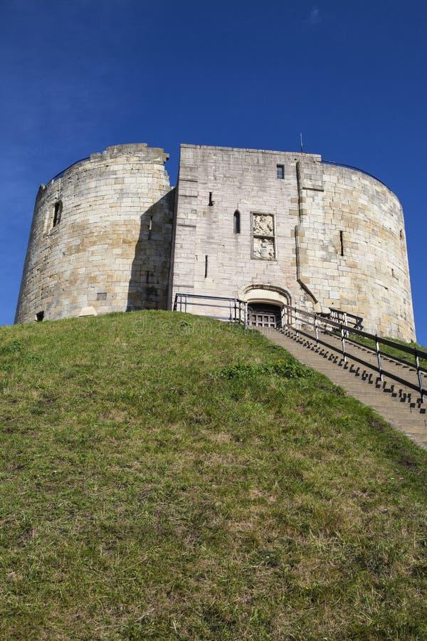 La torre de Clifford en York fotos de archivo libres de regalías