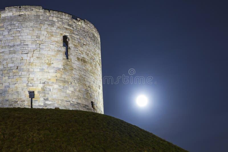La torre de Clifford en York fotografía de archivo