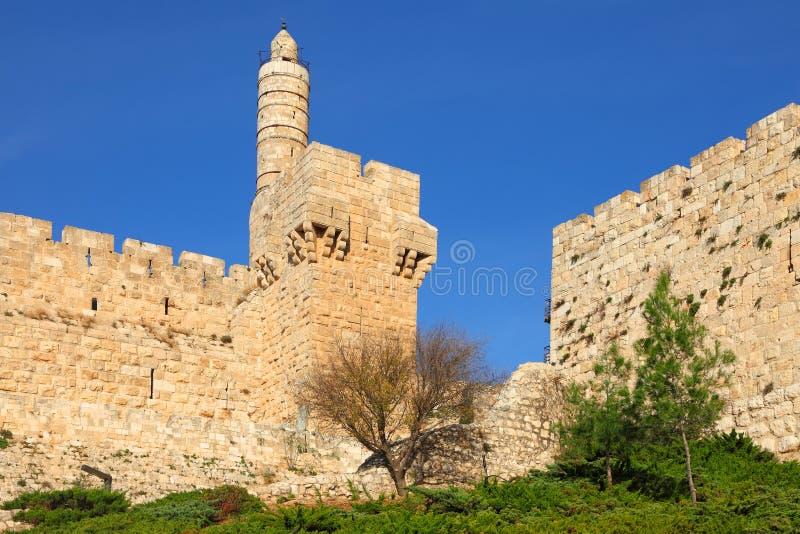 La torre de David imagen de archivo