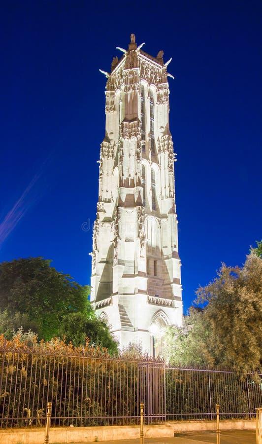 La torre de Jacques del santo, París, Francia foto de archivo