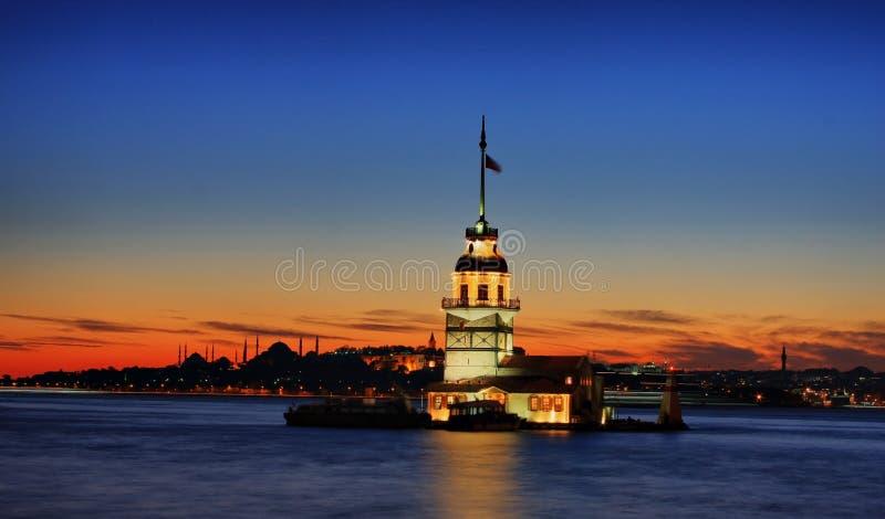 La torre de la doncella foto de archivo