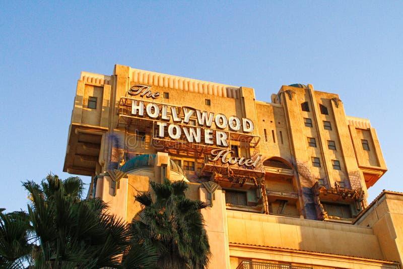 La torre de la zona crepuscular del terror foto de archivo libre de regalías