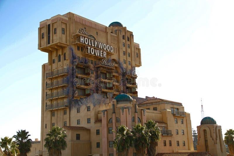 La torre de la zona crepuscular del terror imagen de archivo libre de regalías