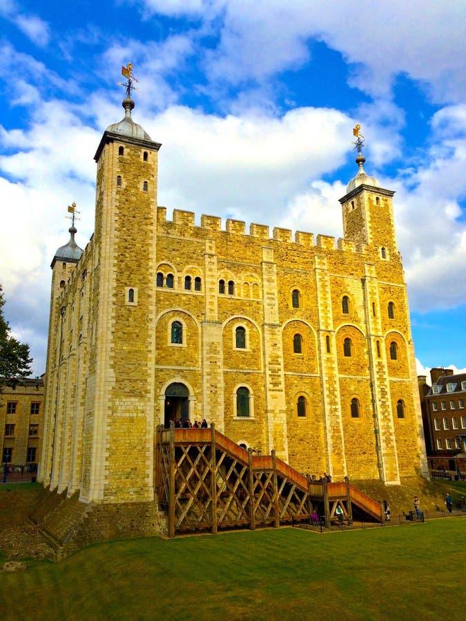 La torre de Londres blanca foto de archivo