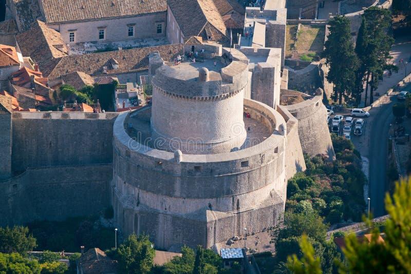 La torre de Minceta, Dubrovnik imágenes de archivo libres de regalías