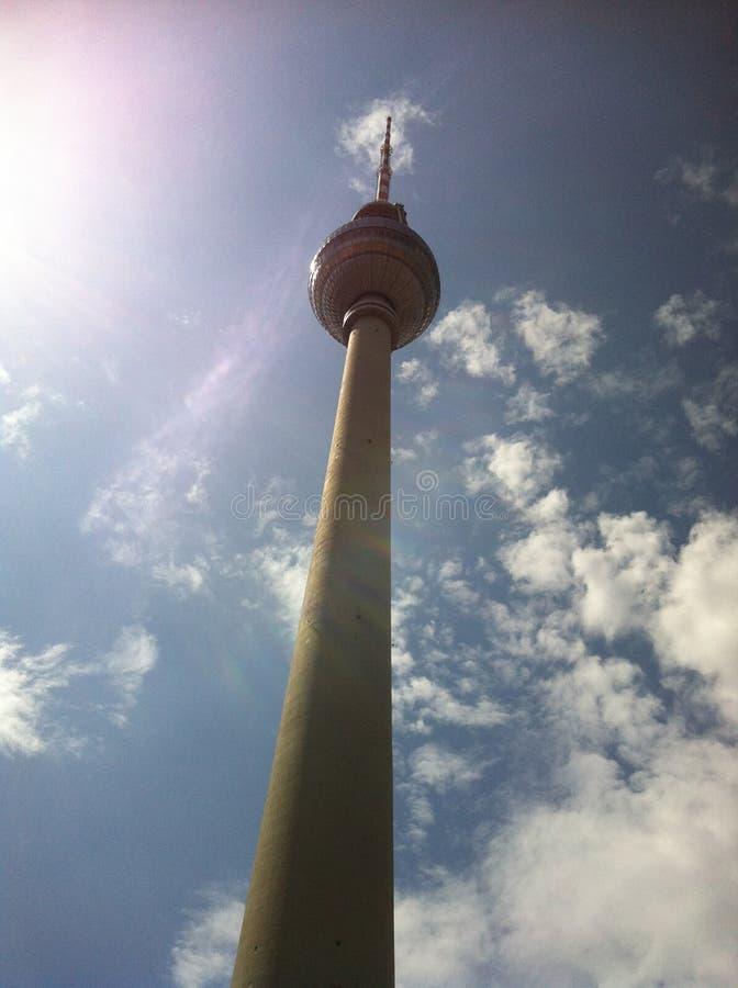 Torre de radio en Berlín imagenes de archivo