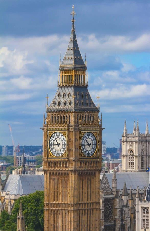 La torre de reloj de Big Ben en Londres, Reino Unido imagen de archivo libre de regalías