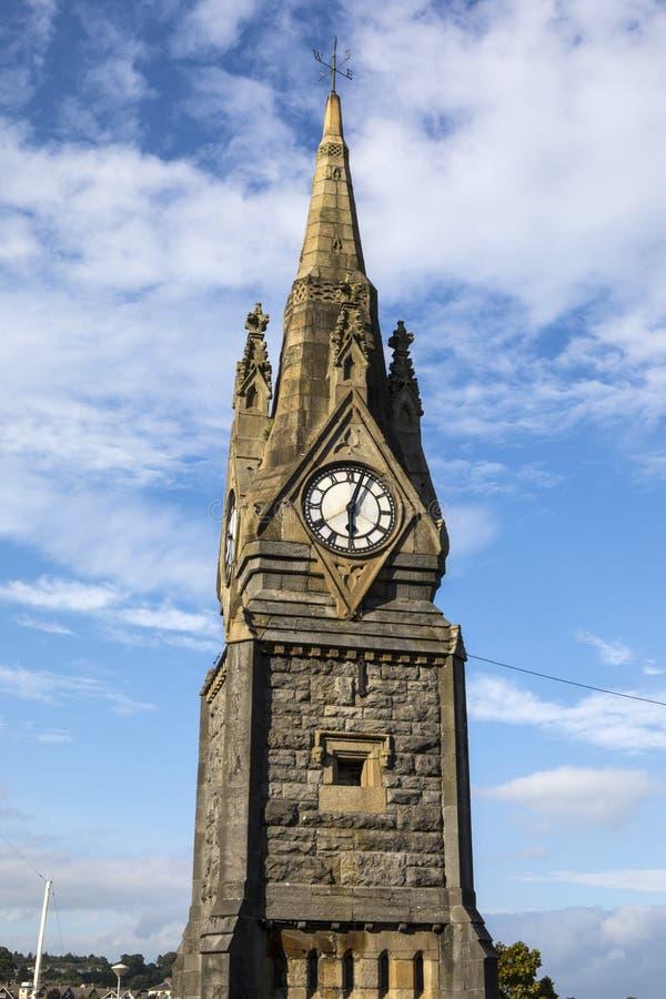 La torre de reloj en Waterford imágenes de archivo libres de regalías