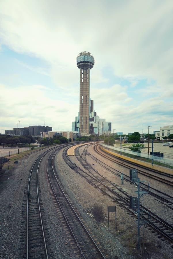 La torre de la reunión en Dallas, Tejas, los E.E.U.U. imagen de archivo libre de regalías