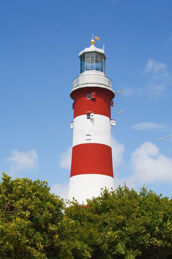 La torre de Smeaton es tercer y la mayoría notable del faro de Eddystone Plymouth Devon fotos de archivo libres de regalías