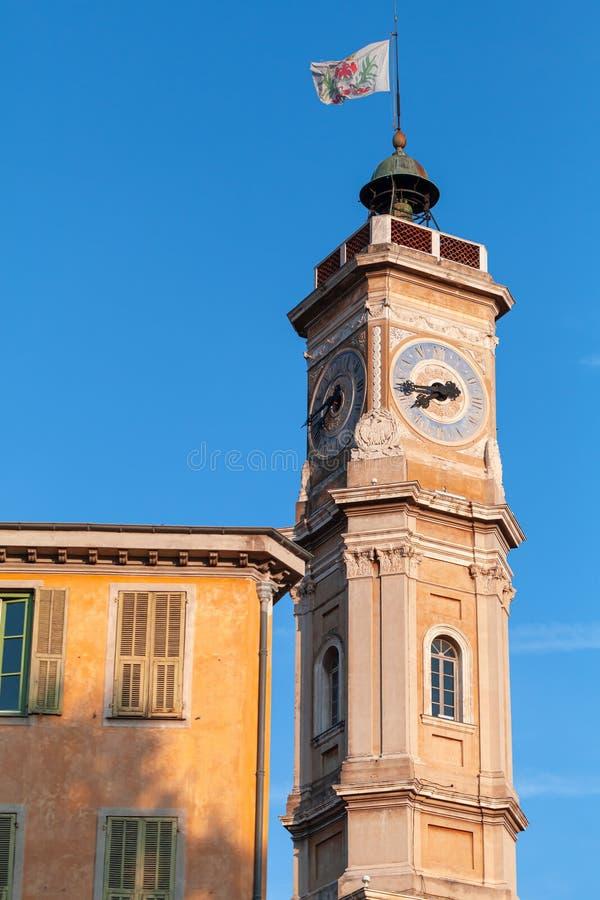 La torre de St Francois en la ciudad de Niza fotografía de archivo