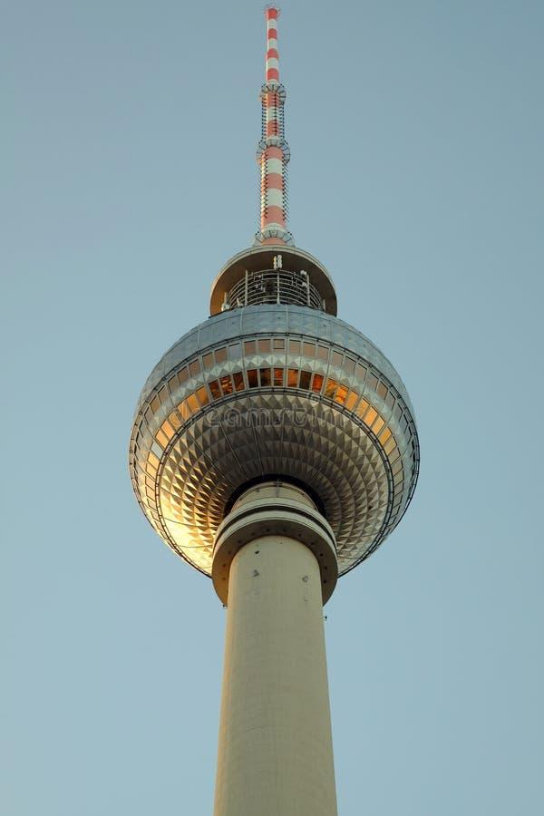 La torre de la TV en el Alexanderplatz en Berlín, Alemania fotos de archivo libres de regalías