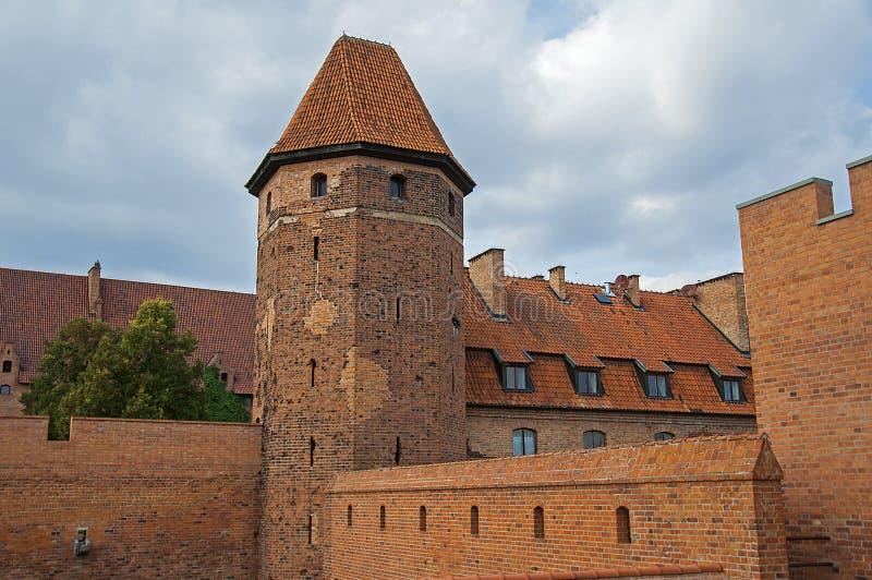 La torre del castillo de Malbork fotografía de archivo libre de regalías