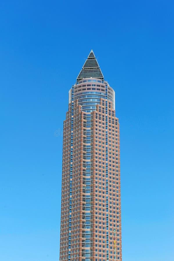La torre del lápiz (Messeturm) fotos de archivo