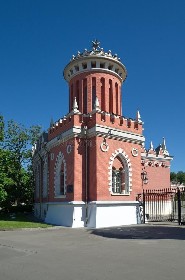La torre del palacio del viaje de Petrovsky, Moscú, Rusia foto de archivo