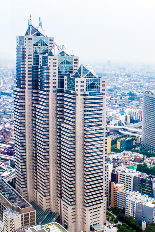 La torre del parco di Shinjuku a Tokyo fotografia stock