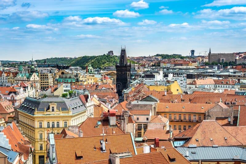 La torre del polvo en Praga, Rep?blica Checa fotografía de archivo libre de regalías