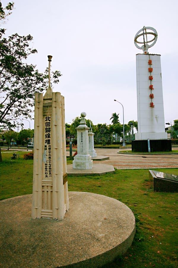 La torre del punto di riferimento della linea di regressione del nord di Taiwan fotografia stock libera da diritti