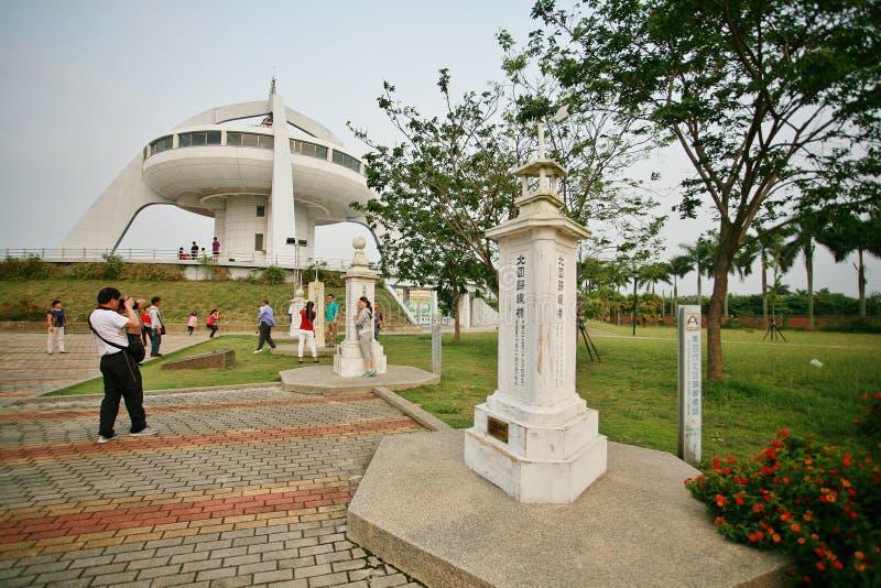 La torre del punto di riferimento della linea di regressione del nord di Taiwan fotografie stock