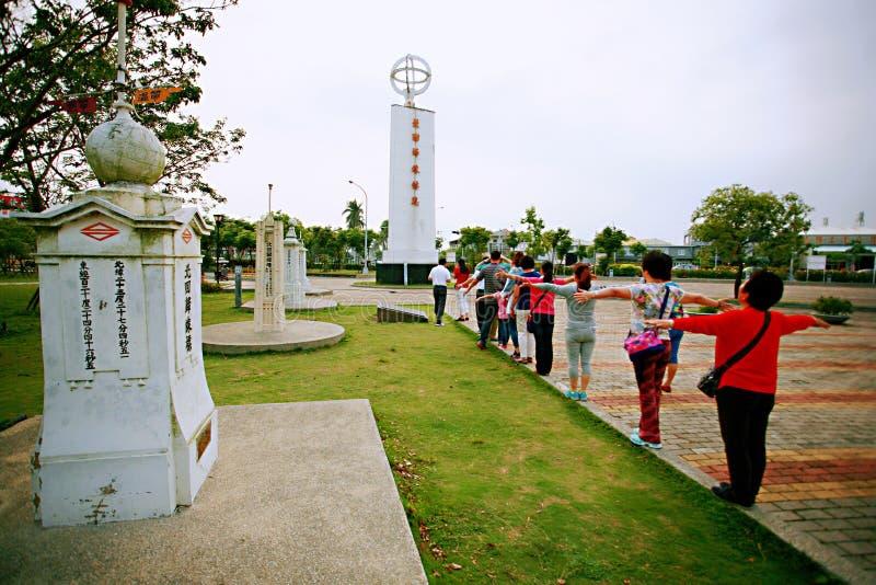 La torre del punto di riferimento della linea di regressione del nord di Taiwan immagini stock