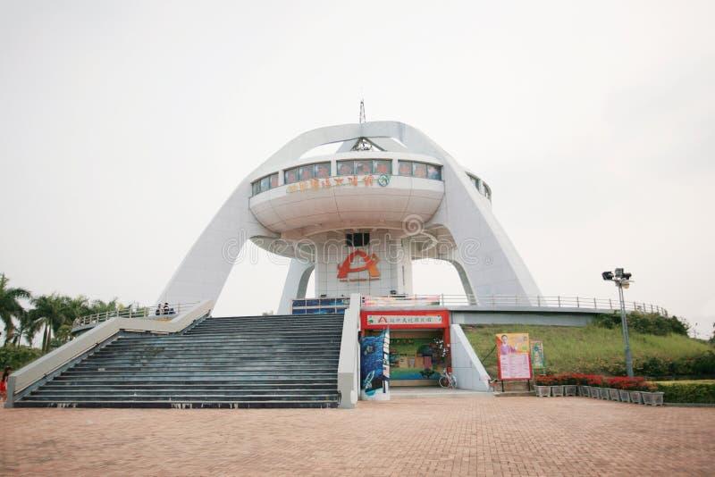 La torre del punto di riferimento della linea di regressione del nord di Taiwan fotografie stock libere da diritti