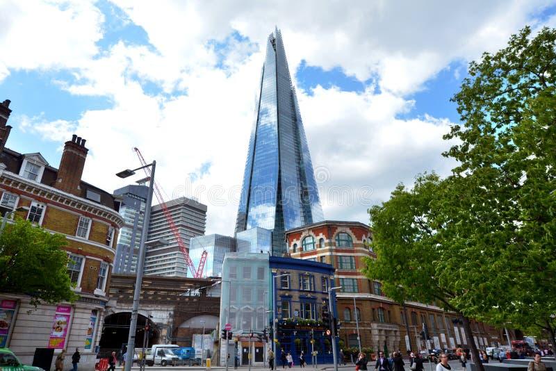 La torre del rascacielos del casco en Londres - Reino Unido imágenes de archivo libres de regalías