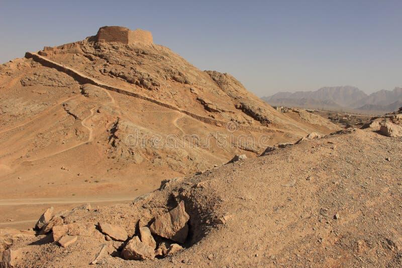 La torre del silencio en Yazd, Irán imagenes de archivo