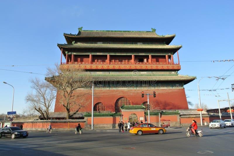 La torre del tambor en Pekín foto de archivo libre de regalías