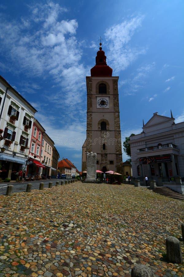 La torre della città Ptuj La Stiria slovenia immagini stock libere da diritti