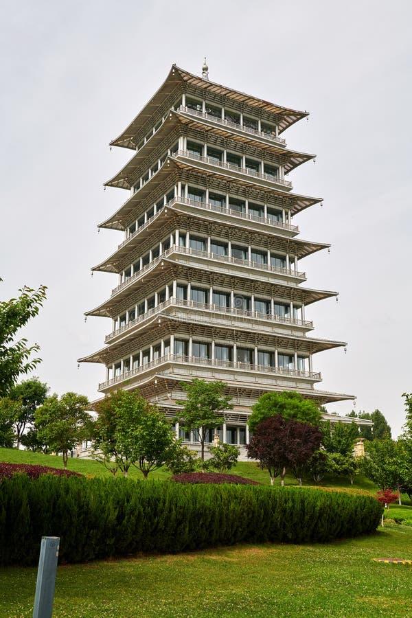 La torre di Chang An nel parco dell'Expo immagine stock libera da diritti