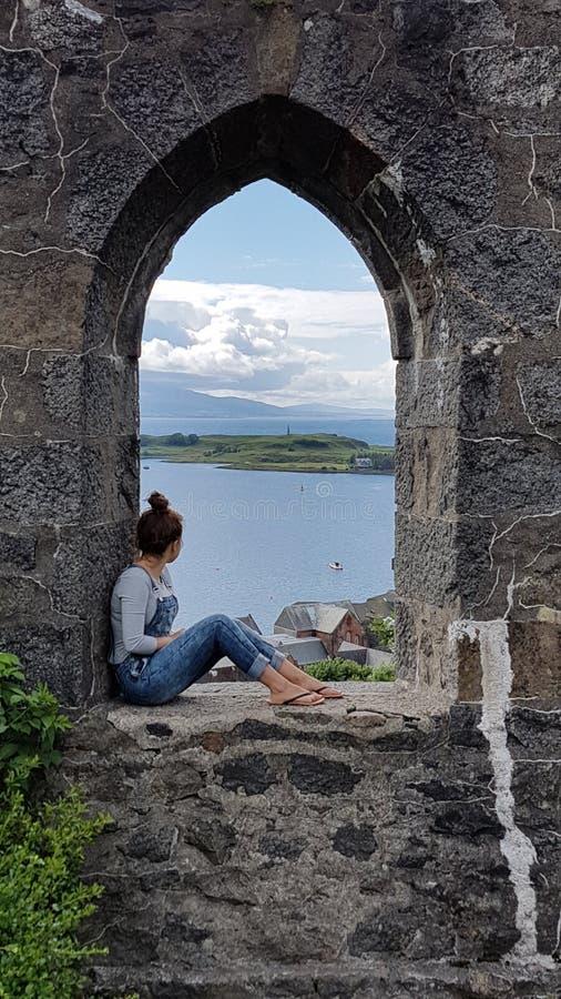 La torre di McCaig, Oban fotografia stock