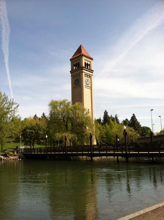 La torre di orologio fotografia stock