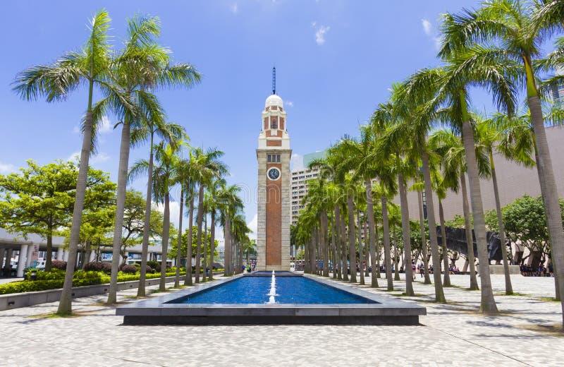 La torre di orologio in Tsim Sha Tsui, Hong Kong immagine stock